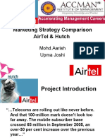 Marketing Strategy Comparison of Airtel and Hutch