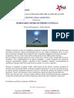 Volantino Seminario Reiki I Livello - Andrea Bianchi 2