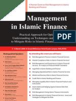 Risk Management Seminar 2008 - Pamphlet