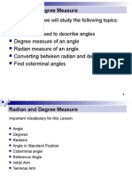 radian and degree measure