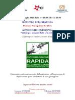 Volantino Autoguarigione Rapida - Salvatore Manzo