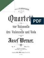 Werner J. - Cuarteto para Cuatro Chelos (o Tres Chelos y Viola) Op. 6 - parte Chelo I.pdf
