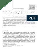 An Information-processingmodel of Maintenance Management
