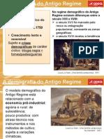 História Demografia Antigo Regime
