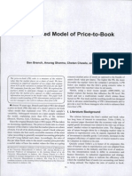 Branch, B., Sharma, A., Chawla, C., & Feng, T. (2014). an Updated Model of Price-To-Book. Journal of Applied Finance, 24(1), 73-93.