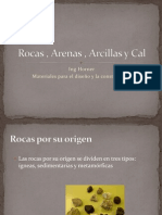 2.-Rocas , Arenas , Arcillas y Cal