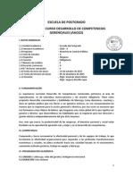 Syllabus Desarrollo de Competencias Gerenciales. 31 de Oct - 05 de Dic (Sm)