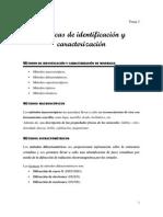 Tema 3.1. Técnicas de Identificación y Caracterización