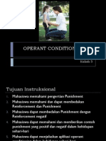 Kuliah 5 - Operant Conditioning 2015