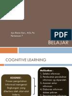 Kuliah 6 - Belajar Kognitif 2015