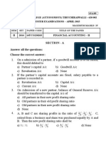 Financial Accounting -Sec A