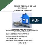 Comparacion Sobre Las Funciones y Procedimientos en Los Actos de La Administracion Publicas Del Peru y Chile