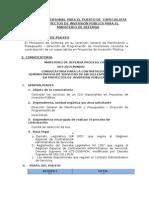 Selección de Personal Para El Puesto de Especialista en Proyectos de Inversion Publica Para El Ministerio de Defensa