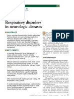 Respiratory Disorders in Neurologic Diseases