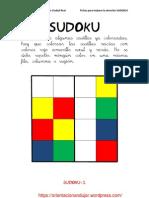 Sudokus Coloreando 4x4 Fichas 1 20