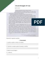 Ficha de Português 2 10º Ano