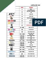 Lista de Canales Hd
