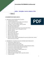 Programa Analitica FIZICA Admitere UPB 2014 02