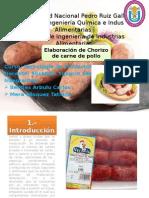 Chorizo de Pollo-Elaboracion