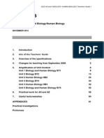 GCE Biology-Human Biology-Teachers' Guide Revised 18-02-14