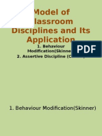 Model of Classroom Disciplines and Its Application