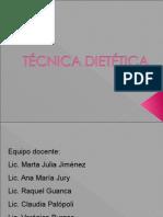 Introducción a la Tecnica Dietetica