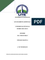 Informe de Conferencias Técnicas Sobre Bombeo Mecánico