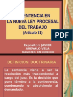La Sentencia en La Nueva Ley Procesal Del Trabajo-chiclayo