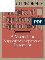 Principles of Psychoanalytic Psychotherapy