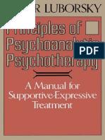 Principles of Psychoanalytic Psychotherapy