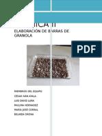Barras de granola - Química