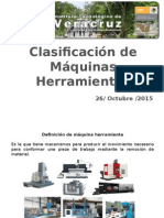 Clasificación de Las Máquinas Herramientas