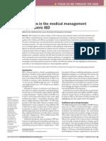 Advances in the Medical Management Paedriatric IBD