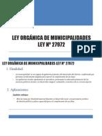 LEY ORGANICA de Municipalidades -Su