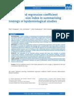 Standardised Regression Coefficient-metaanalysis