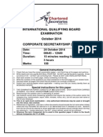Corporate Secretaryship Paper October 2014
