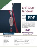 Chinese Lantern Pendant Tutorial