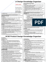 gcse product design knowledge organiser