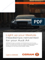 OSRAM LEDriving XENARC Headlamp Brochure for Audi A4 B7
