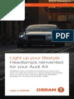OSRAM LEDriving XENARC Headlamp Brochure for Audi A4 B7