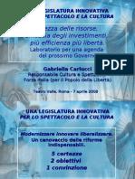 Proposta di Legge - Carlucci/Barbareschi