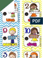 Tarjetas Para Aprender Los Números