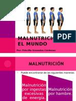 Malnutricion en El Mundo Priscilla Granados