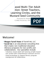 Mustard Seed Community, Learning Circles, & Street Teachers