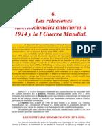 06 LA PRIMERA GUERRA MUNDIAL Las Relaciones Internaciones