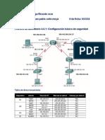 Práctica de Laboratorio 4.6.1 Configuración Básica de Seguridad