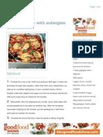 Baked rigatoni with aubergine & mozzarella