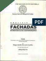 ANÁLISIS DE FACHADAS