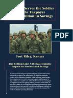 Ahorro de costos en Fort Riley