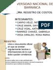 Registro de Costo